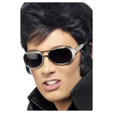 Silver 50s Rockstar Elvis The King Sun Glasses Fancy Dress Party