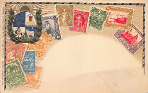 Uruguay-Stamps-on-Early-Embossed-Postcard-Unused-Published-by-Ottmar-Zieher