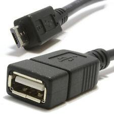 OTG USB Cable Adaptador Host en movimiento USB A Hembra a Micro B Negro