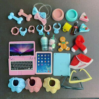 Random 18x Accessories For LPS Christmas Hat Computer Who Love LPS For Kid Rare