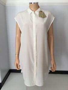 New Shirt £138 Dress Uk Cream 12 Blouse Silk 40 100 Size Allsaints Giovia qxw16XX