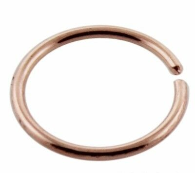 Nose Ring 9k Rose Gold Tiny 6mm Split Ring 22g 0 6mm Genuine