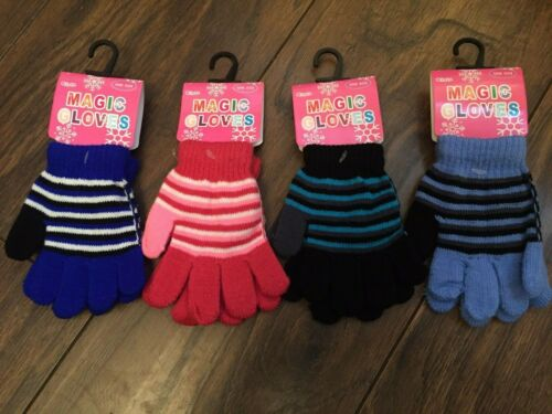 Baby Boys Toddler Children Kids Acrylic Winter Gloves Stripy Size 3 to 6  Years