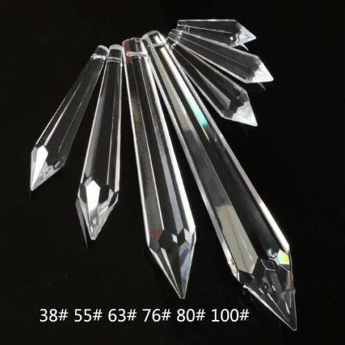 35//38//50//60//65//78MM  Udrop shape Clear Glass Chandelier Crystal Lamp Parts