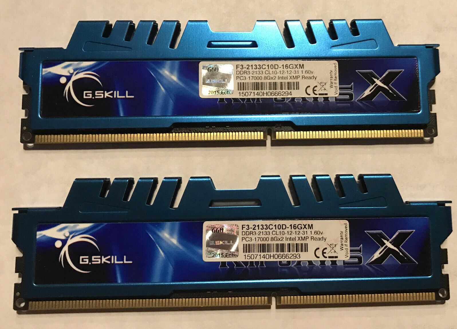 G. SKILL 16 GB UDIMM 2133 MHz PC3-17000 DDR3 Memory (F3-2133C10D-16GXM). Buy it now for 70.00