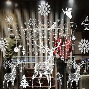 Christmas-Stickers-Window-Wall-Stickers-Snowflake-Santa-Pattern-DIY-Xmas-Decals
