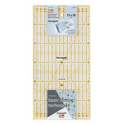 Règle universelle patchwork Omnigrid Prym 15 x 30 cm Mesure