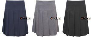 Kids-Girls-Women-School-Uniform-All-Round-Pleated-Skirt-Side-Zip