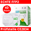 Indexbild 1 - 40x FFP2 Maske, echtes CE2834 Zertifikat & EN149:2001+A1:2009 FFP2 NR