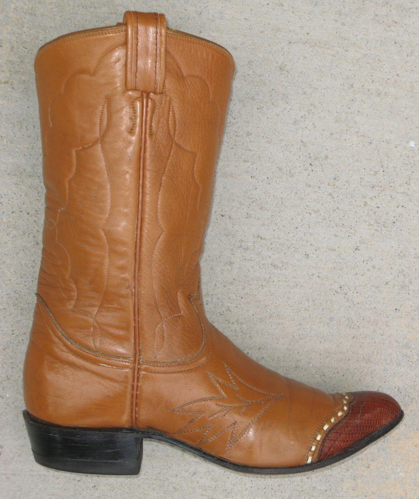 Tony Lama Vintage Damen Western Cowboy Stiefel Gr. 6 B Schwarze Beschriftung  | Hohe Qualität und geringer Aufwand