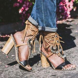 b110341d26c74 SAM EDELMAN Yates Sz 6 M Tribal Beaded Calf Hair Leather Sandals NEW ...