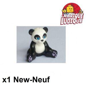 Lego - 1x Animal Panda Friends Sitting noir/black 16674pb01 NEUF