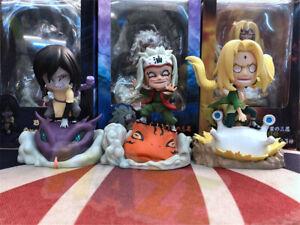 Anime-Naruto-Shippuden-Tsunade-Jiraiya-Orochimaru-Juguetes-Modelo-Figura-de-PVC-NUEVO