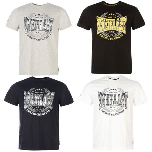 Everlast Herren T-Shirt S M L XL 2XL 3XL 4XL Tee Top Boxing Boxen Sport neu