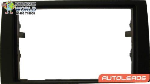 Black Double DIN 113mm Facia Plate Autoleads Radio Stereo Audi A4 2007