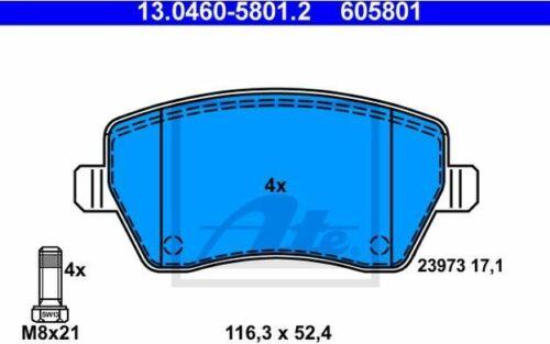 passend für Nissan ATE Bremsscheiben+Beläge Micra III Micra C K12 Ø260mm VORN