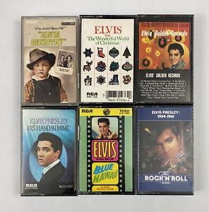 Lot 6 Elvis Presley Cassette Tapes- Country, Christmas, Golden Records, Gospel