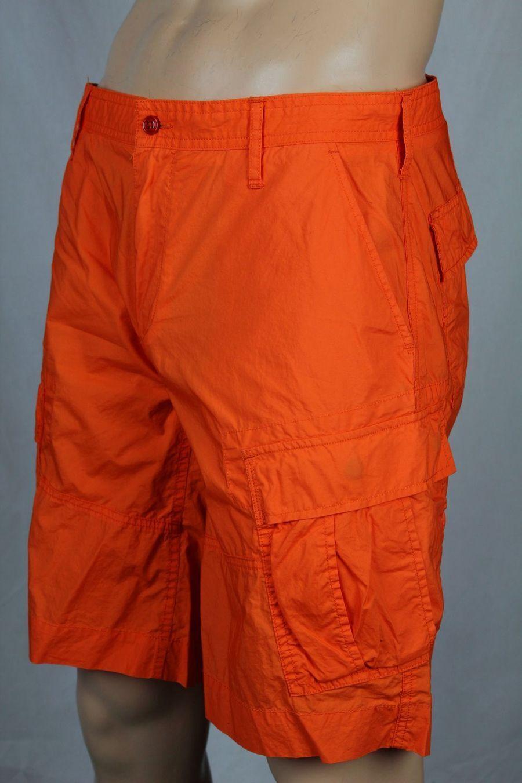 Polo Ralph Lauren orange Cargo Cotton Shorts 32 NWT