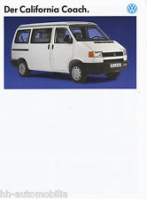 VW California Coach Prospekt 1993 brochure Autoprospekt Auto PKWs Deutschland