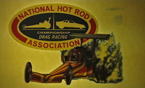NHRA drag racing vintage retro tshirt transfer print, non glitter, new, NOS