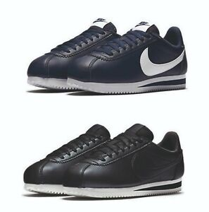 Nike-Womens-Cortez-Classic-Leather-Vintage-Trainers-Navy-Black-UK-3-UK-7-5