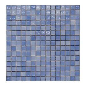 CERAMICA DI TREVISO mosaico da rivest. 2x2 miscela AZZURRO INCISO ...