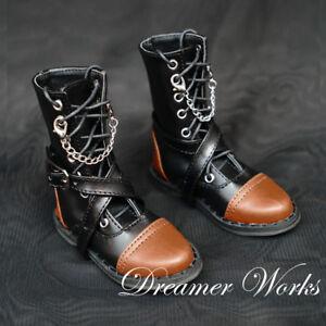 Mimi Collection MSD Doc 1//3 BJD Obitsu Doll BOOTS Brown/&Black Splice Shoes