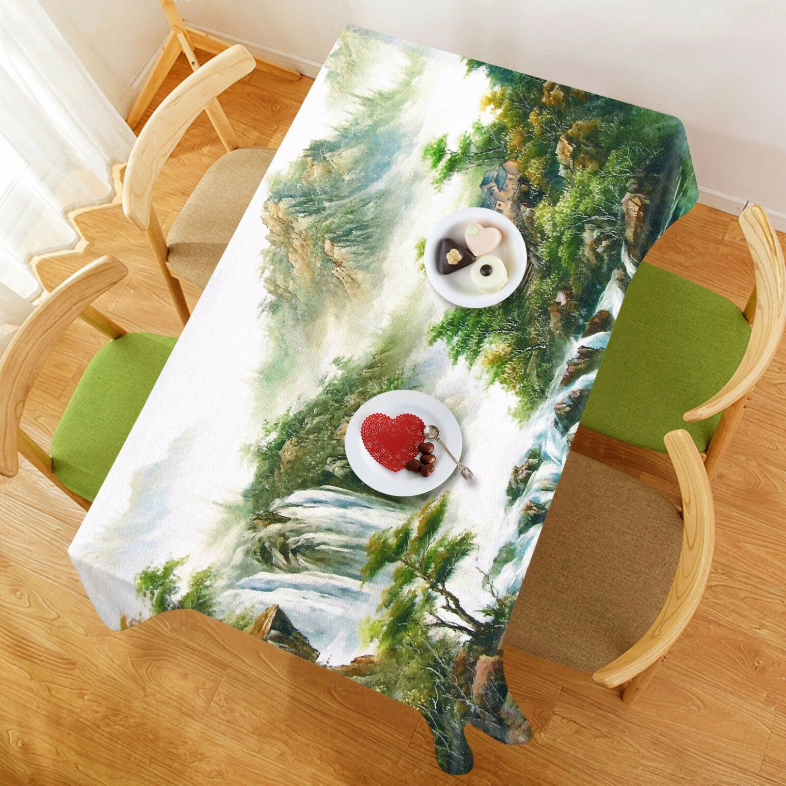 3D Mountain831 Tablecloth Table Cover Cloth Birthday Party Event AJ WALLPAPER AU