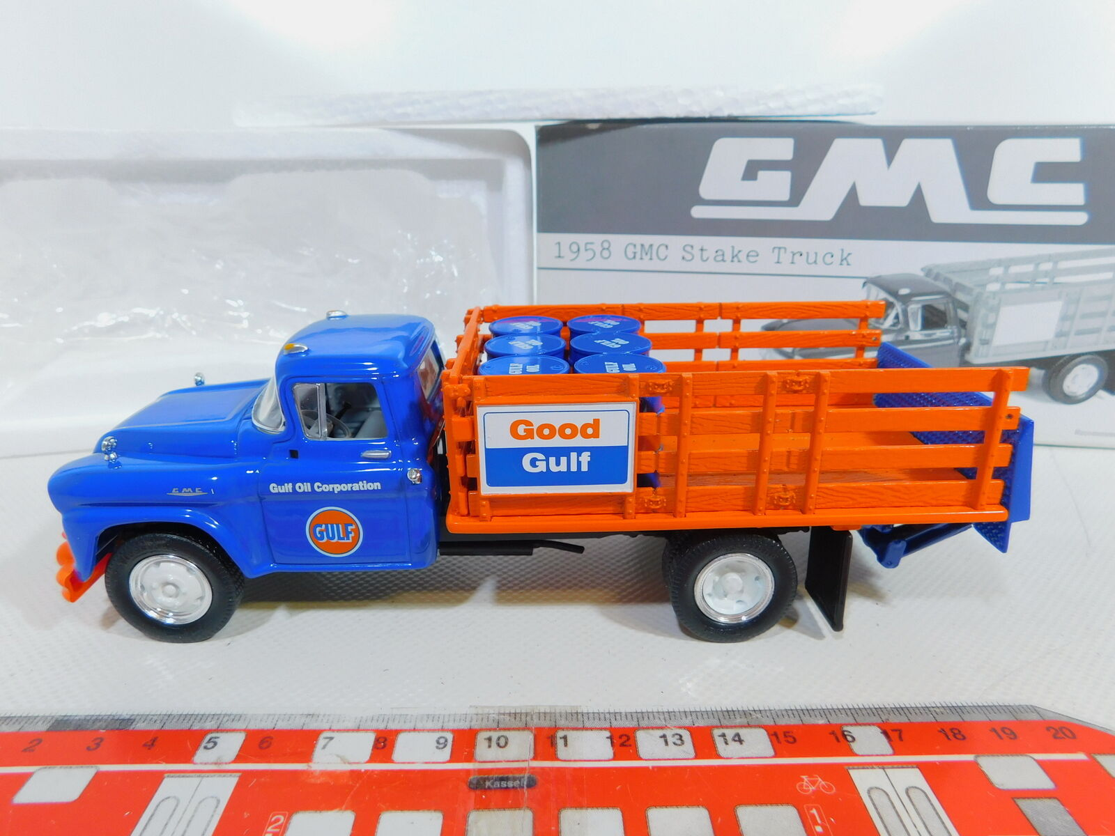 Ca96-1first Gear 1 34 19-2259 camiones GMC 1958 Gulf Oil, embalaje original