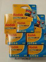 5 Rolls Of Kodak Ultramax 400 36 Exposure Color Film Exp 12/2018 Gc135-36