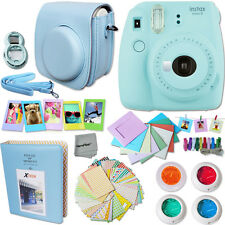 Fujifilm Instax Mini 9 Instant Camera (Ice Blue) + Accessory Kit for mini 9