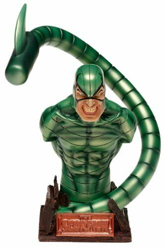Marvel Comics Spiderman LEGGENDE cattivi SCORPION 7  Busto Statua Figura belle
