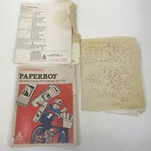 Paperboy-Arcade-Original-Manual-with-Schematics