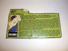 GI JOE MUTT FILE CARD Action Figure Slaughter's Marauders OKAY SHAPE 1989