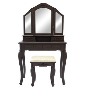 Luxury Dressing Table Makeup Stool Mirrors Jewellery Cabinet 4 Drawers Diana Ebay