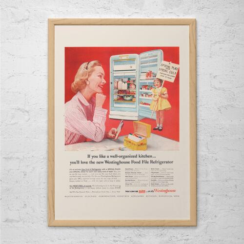 Retro Mid-Century Ad Vintage Kitchen Poster CLASSIC KITCHEN AD!! 1950/'s Ret