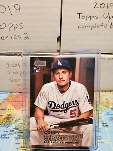 COREY SEAGER DODGERS 2016 TOPPS STADIUM CLUB (WHITE) ROOKIE CARD #142