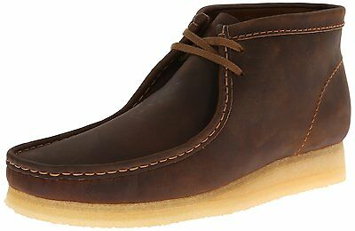 Clarks 26134196 Men/'s Wallabee Boot Beeswax Leather Moccasin Lace-Up Boots