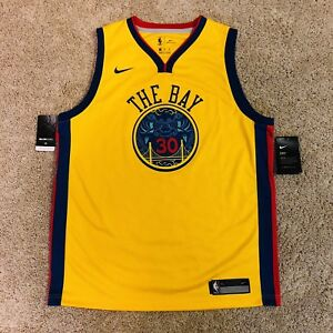 Details about Golden State Warriors Nike Chinese Heritage THE BAY Steph  Curry Jersey Youth XL a3af88410
