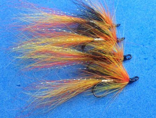 Qualità 4 Taglia 10 Doppio Argento Cascata Salmone Trota Di Mare Salmone Mosche