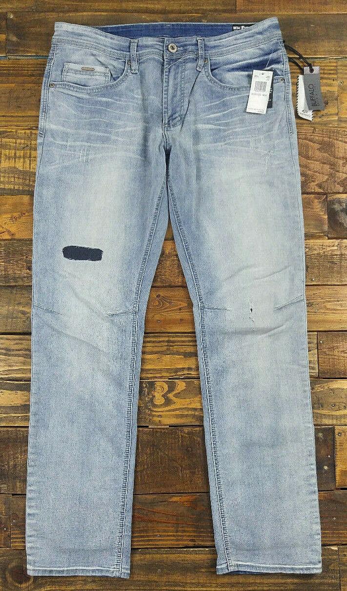 BUFFALO DAVID BITTON BDB Evan-X Slim Stretch Antique Wash Jeans Size 34x32