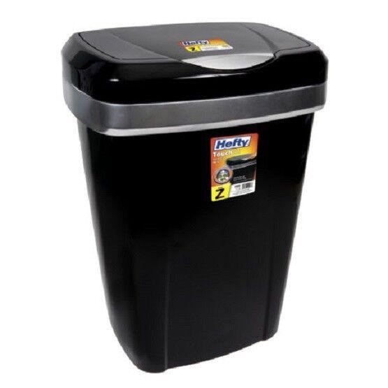 12.2 Gallon Garbage Can Trash Bin Black Container Touch Lid Kitchen  Wastebasket