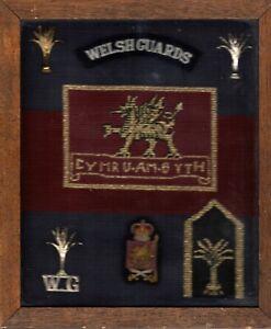 Welsh Guards Embroidered framed Plaque