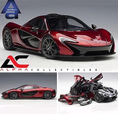 McLaren P1 Azure Blue//Metallic Dark Blue and Carbon Fiber 1//18 Model Car by Autoart 76061