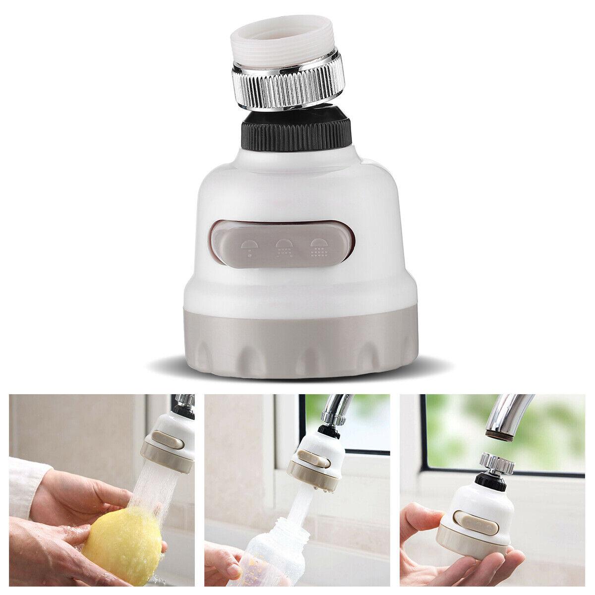 360° Kitchen Tap Head Water Saving Faucet Extender Aerator Sink US Sprayer K1W0
