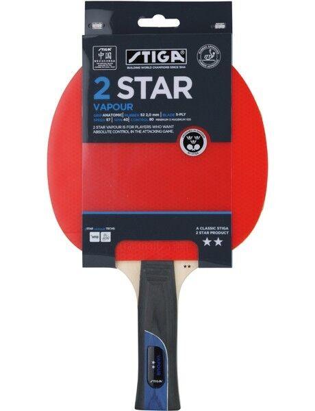 Table Tennis Bat Stiga 2 Star Vapour Bat (2 bat)