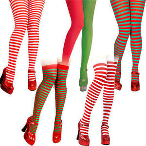 71b80260b478b0 Image is loading Christmas-Tights-amp-Socks-Ladies-Fancy-Dress-Xmas-