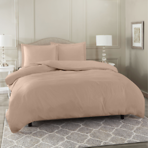 Duvet-Cover-Set-Soft-Brushed-Comforter-Cover-W-Pillow-Sham-Taupe-King