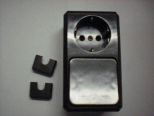 dunkelbrasil Merten 380617 Kombination SCHUKO-Steckdose// Wechselschalter AUFPU