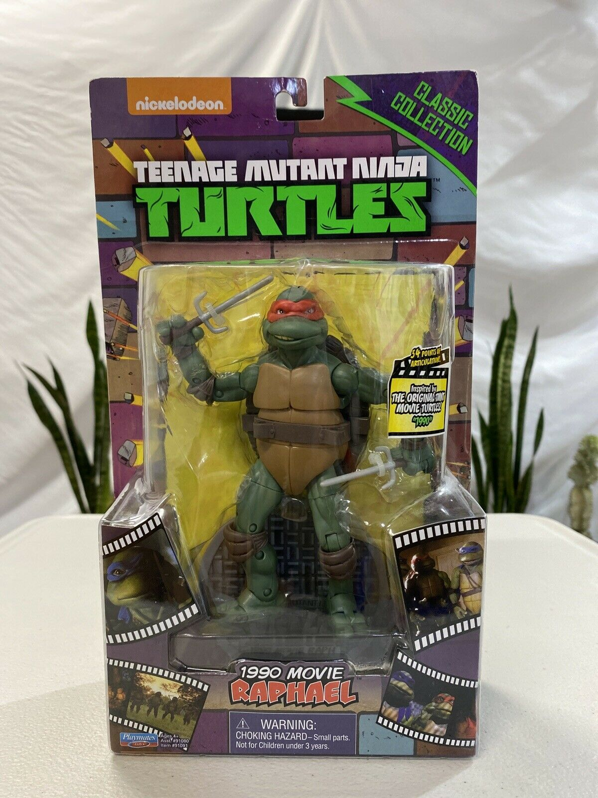 7/'/' inch Action Figure TMNT Teenage Mutant Ninja Turtles 1990 Movie Collection